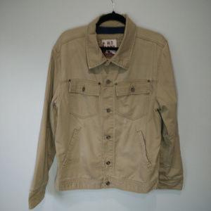 Old Navy Mens Distressed Lg Tan Coat